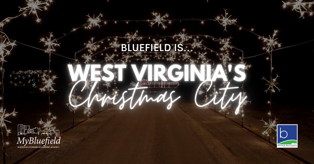 west virginia's christmas city with holiday of lights photo