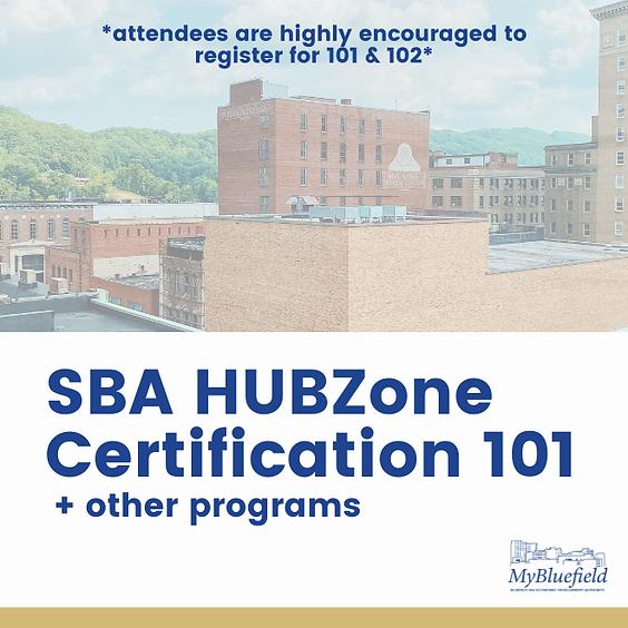 SBA HUBZone Certification 101