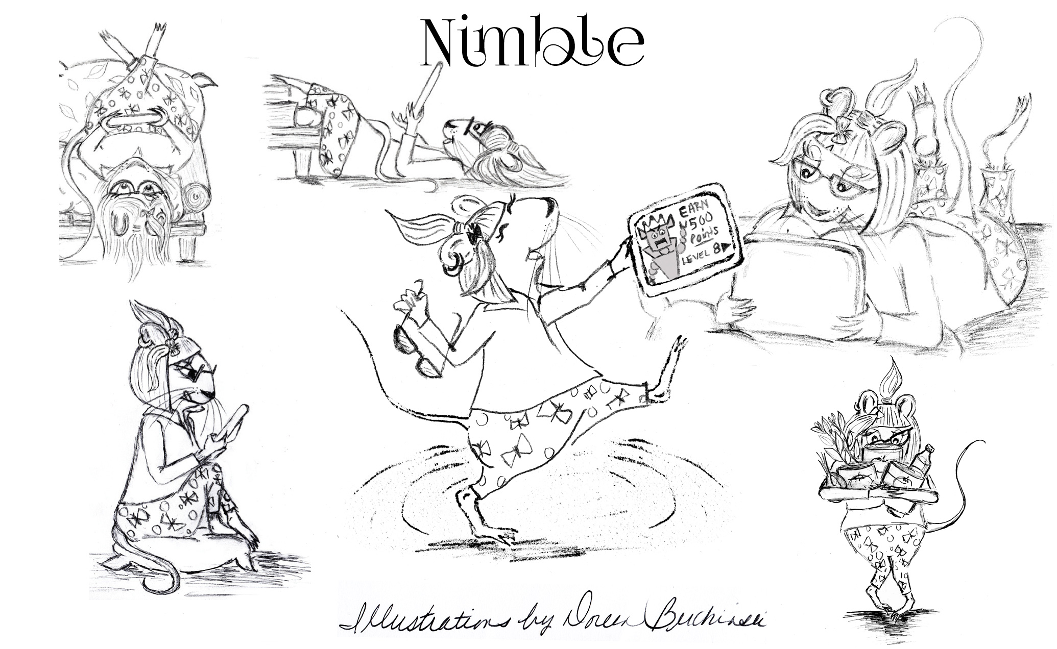 Nimble Character Illustrations
