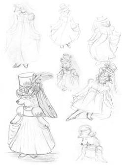 Regency Corgi Sketches