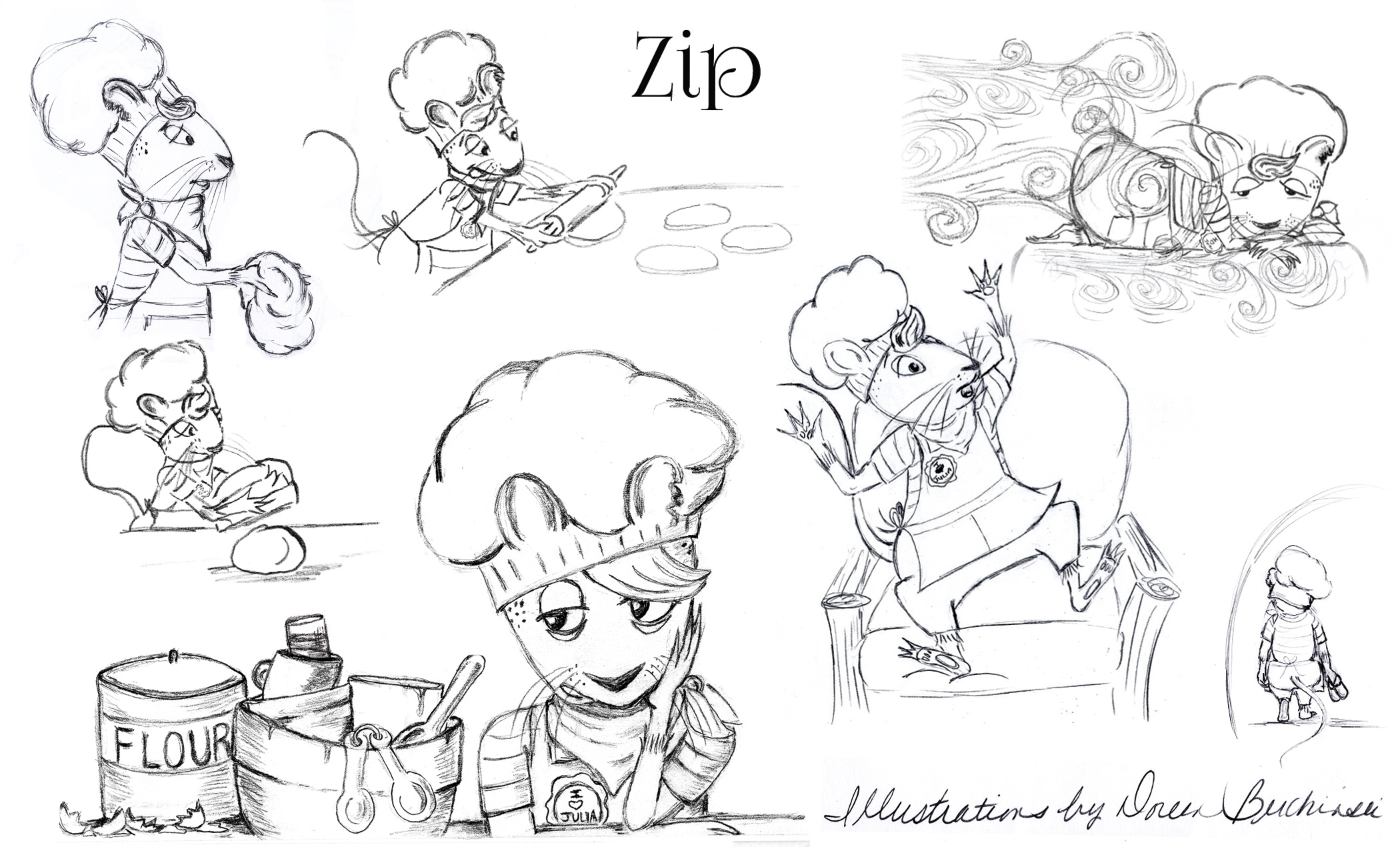 Ziip Character Illustrations