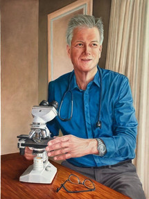 Wilto Kampinga, zelfportret 60x80cm, olieverf 2021
