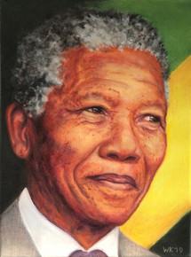 Nelson Mandela 2019, 30x40cm, olieverf