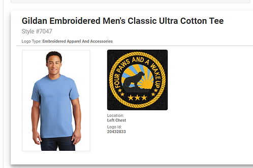 Men's Embroidered Tee