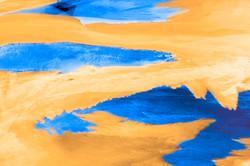 Blue on Orange