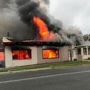 business burning