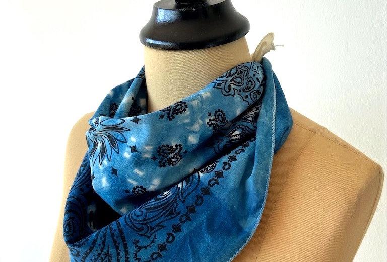 Bandana indigo dyed