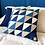 Thumbnail: Quilted pillow - indigo