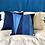 Thumbnail: Quilted pillow - Indigo