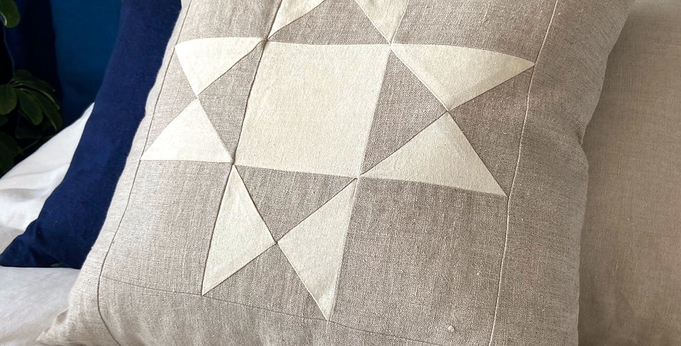 Quilted pillow - linen