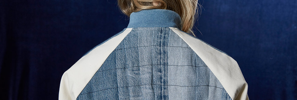 Recycled jeans - Pleated back jacket