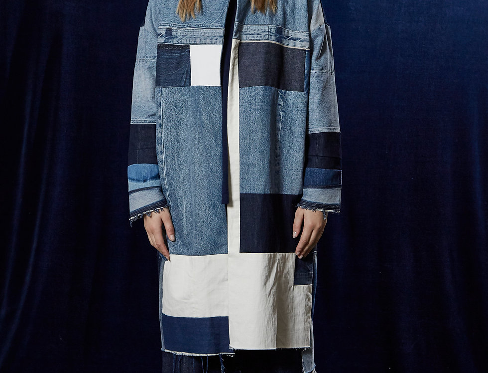 Recycled jeans - Long jacket