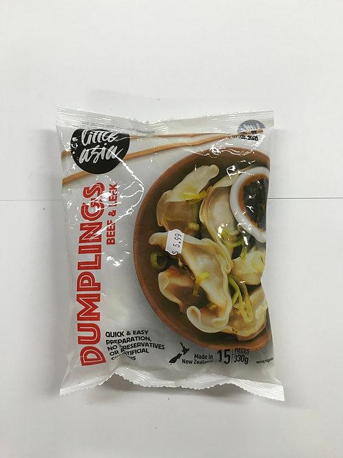 Beef and Leek Dumplings