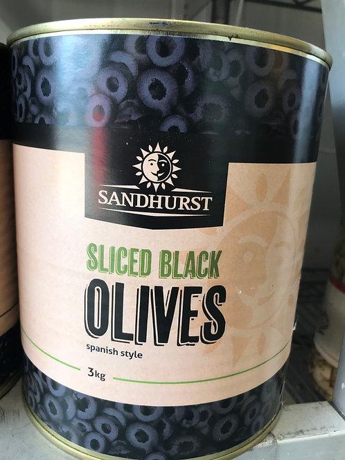 Sliced Black Olives (3kg)