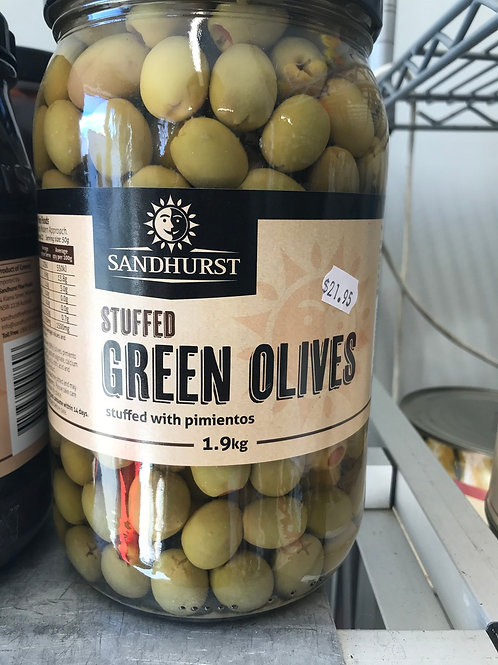 Stuffed Green Olives (1.9kg)