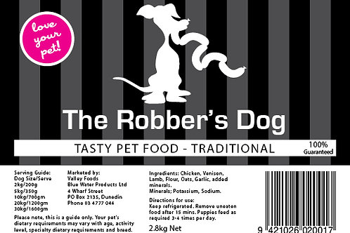 Robbers Dog Traditional Pet Food 3kg aprox