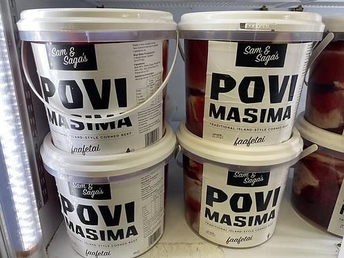 Povi Masima (Corned Beef) 4kg Bucket