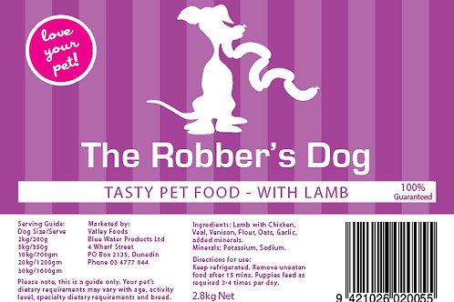 Robbers Dog Lamb Pet Food 3kg aprox