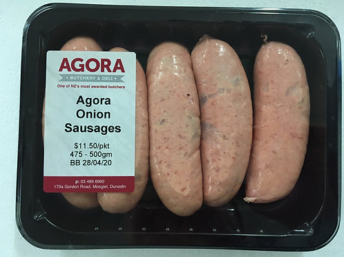 Agora Onion Sausages (475-500g)