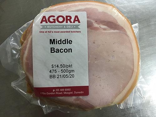 Agora Middle Bacon (475-500g) ea