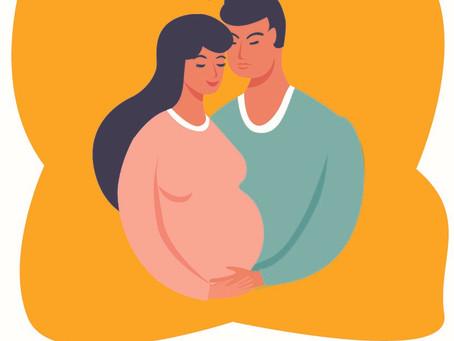 Fases del embarazo desde la perspectiva del hombre.