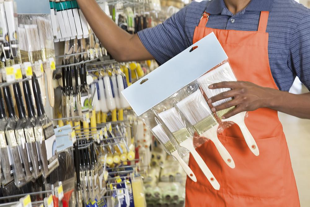 Greg Harriman Vermont Police Help Stock Walmart Shelves