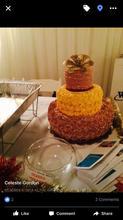 3 tier rosette cake