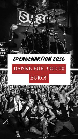 SPENDENAKTION SO36 - DANKE!