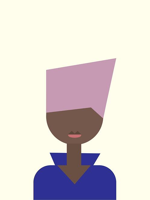 Jade | Black Minimalist Art