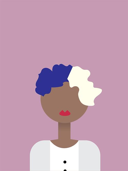 Mipsy | Black Minimalist Art