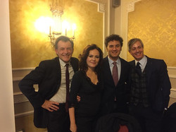 With - left to right – Roberto Vandelli (voice), Giuseppe Albanese, Nicola Guerini (authors) - 2018