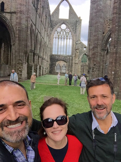 Mimmo, Philip and Paola. Tintern Abbey June 2016