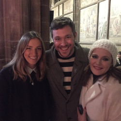 With Will Young and a friend, Chester Cathedral, Chester, UK, 14th December 2017