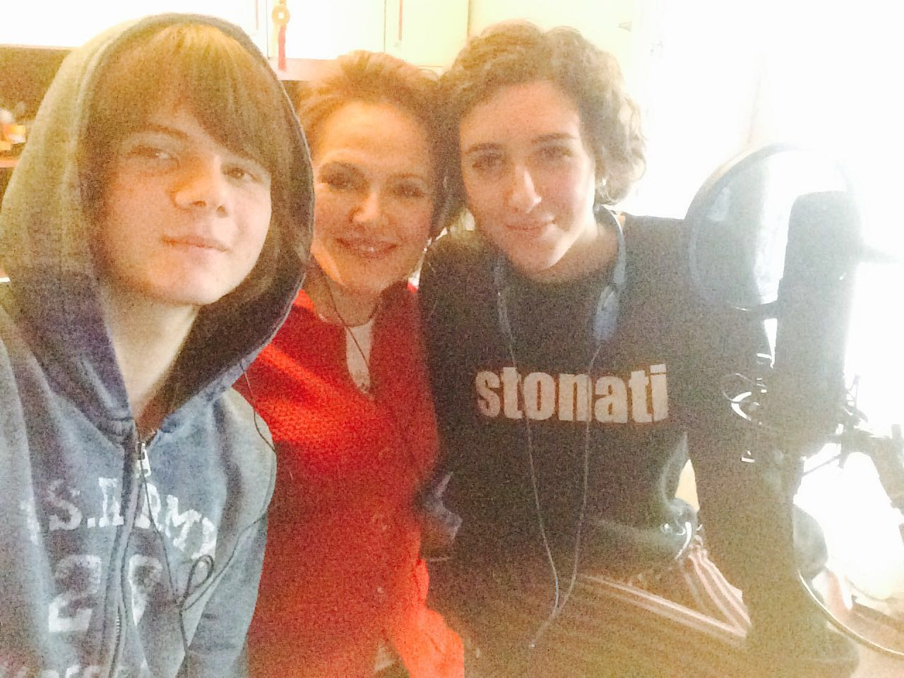 Mario, Ludovica and Paola at Radioimmaginaria Spring 2016.1