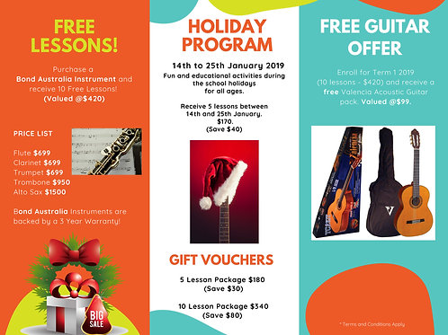 Caringbah Music Holiday Program Voucher