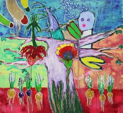120 x 130 cm, oil and acrylic