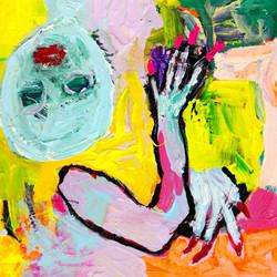 Acrylic on canvas, 40 x 40 cm