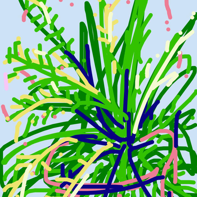 Foxtail Fern iphone drawing