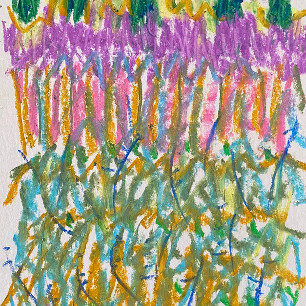 "Color Fields 8""x6"" oil pasel"
