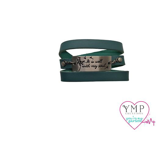 It is Well Wrap Bracelet