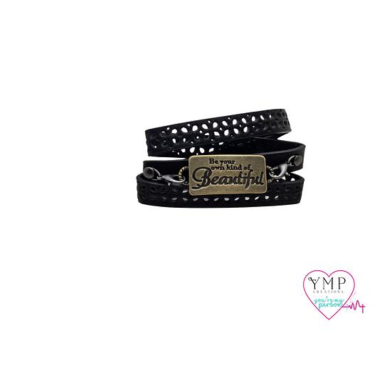 Be Beautiful Wrap Leather Bracelet