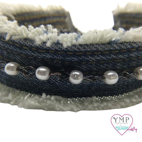 Denim Pearl Bracelet