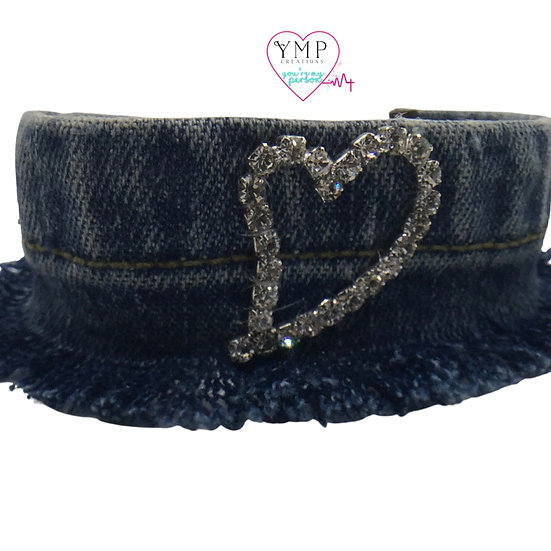 Denim Heart Bracelet