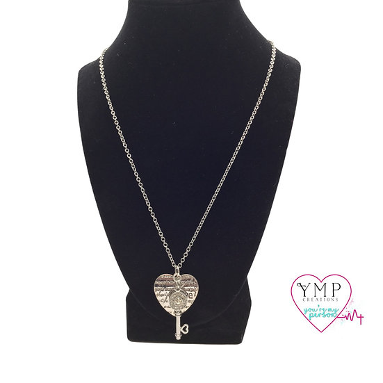 Key with Heart Necklace