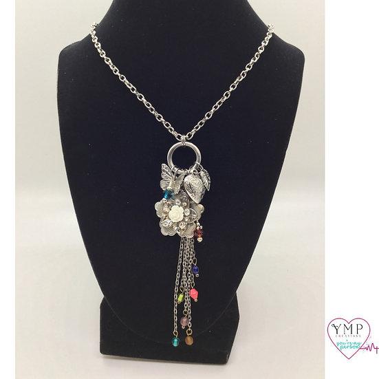 Flower Dangle Necklace