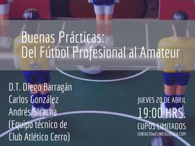 Próxima actividad formativa: recibimos la visita del DT Diego Barragán y su equipo