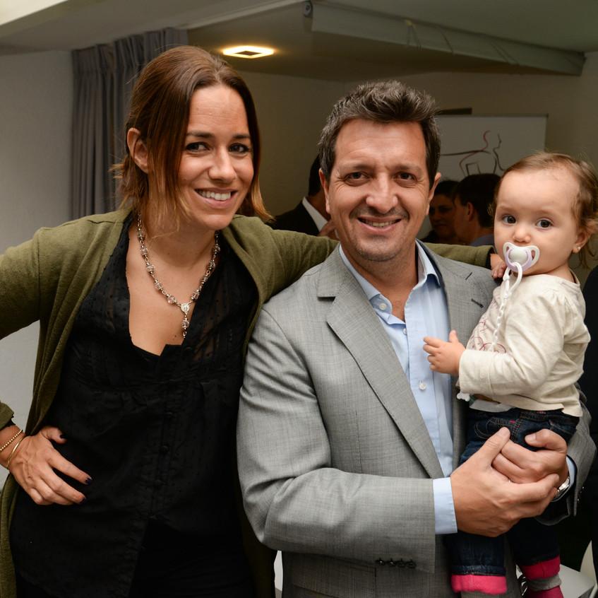 Catalina Ferrand, Federico Buysan y Simona Buysan