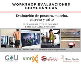 workshop de evaluaciones biomecánicas
