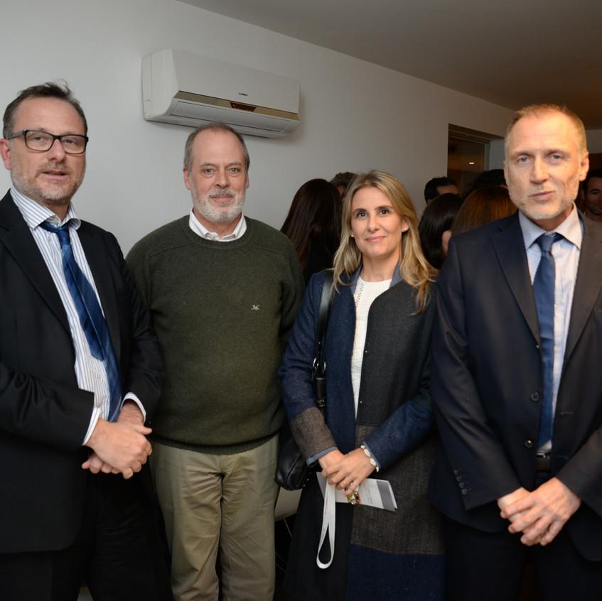 Bruno Gili, Fernando Casanova, Laura Araujo y Nelson Mendiburu