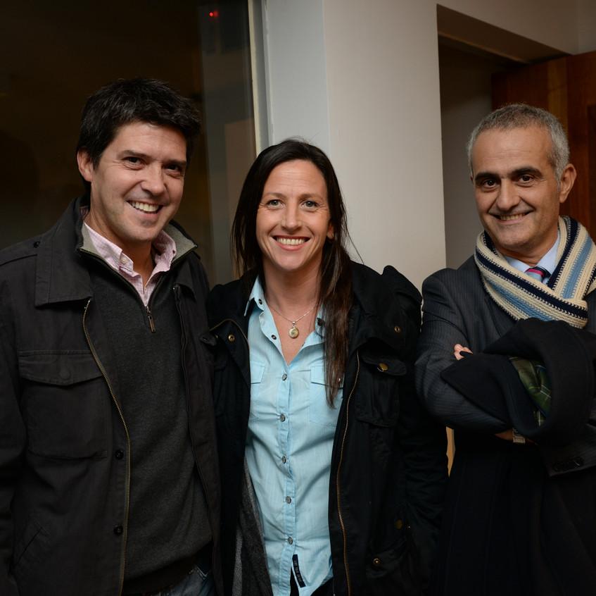 Juan Jose Sosa, Magdalena Narbondo y Fernando Mendez